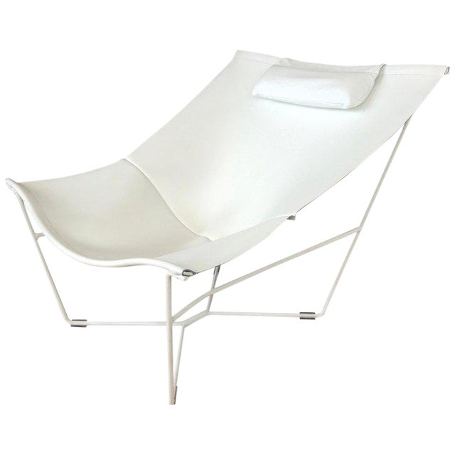 Fantastic David Weeks White Leather Semana Sling Chair For Habitat Caraccident5 Cool Chair Designs And Ideas Caraccident5Info