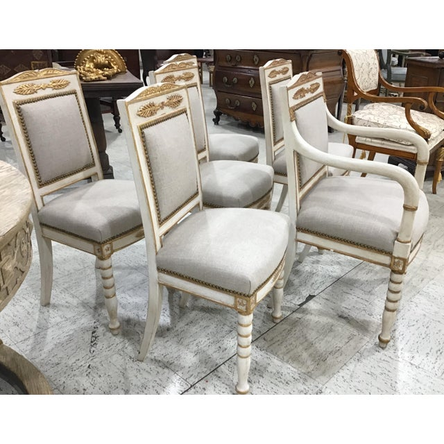 Set of 6 19th Century French Empire Chairs For Sale In Tampa - Image 6 of 10