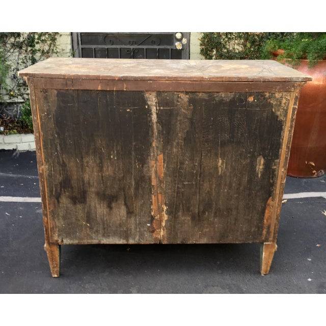Superb Antique Paint Decorated Rustic Sideboard - Image 6 of 8
