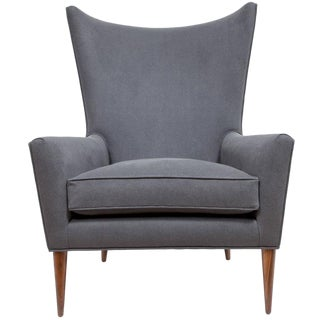 Customizable Morton Curved Back Wing Chair For Sale