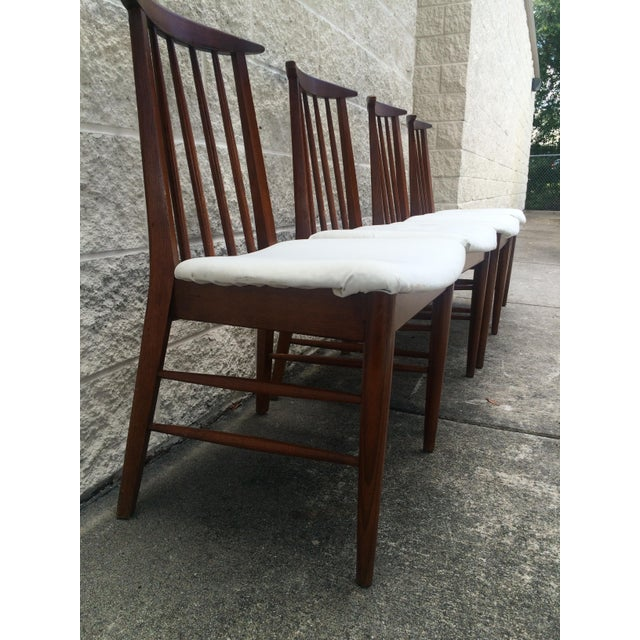 Mid-Century Oak Dining Chairs - Set of 4 - Image 3 of 7