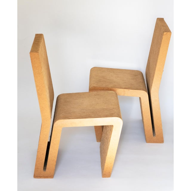 Paper Easy Edges Cardboard Chair by Frank Gehry, Early 1970s Model For Sale - Image 7 of 11