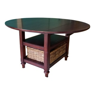 Pottery Barn Shayne Drop Leaf Dining Table For Sale