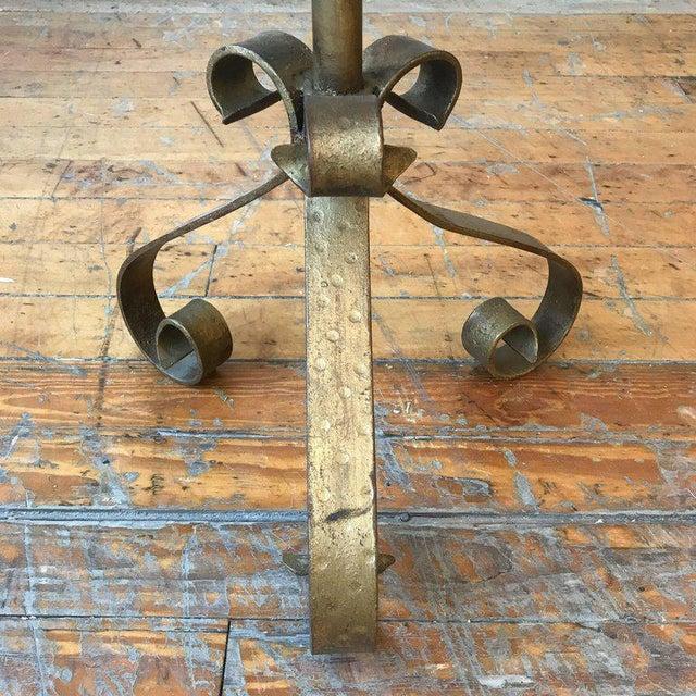 Gilt Metal End Table on a Tripod Base - Image 6 of 7