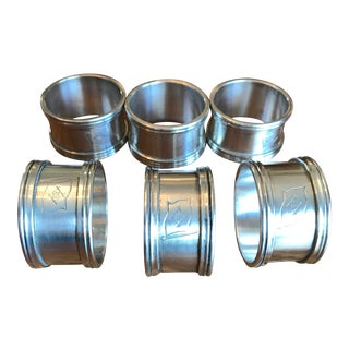 1960s Silver Plated Napkin Rings - Set of 6 For Sale