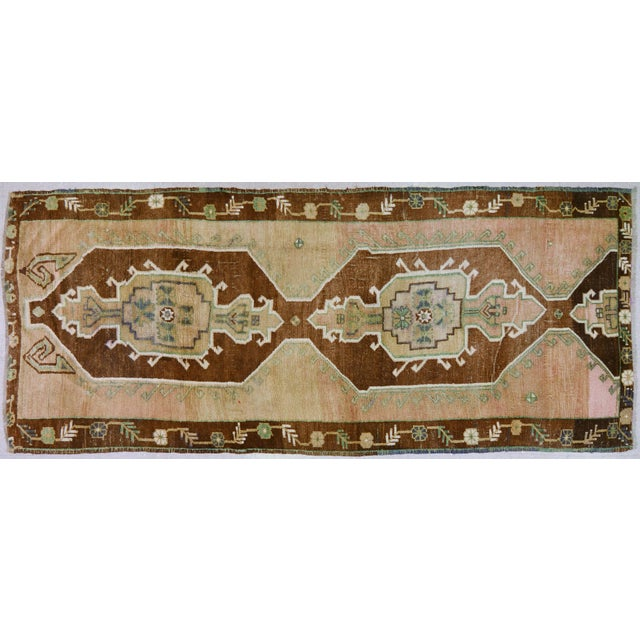 "Vintage Kurdish Tribal Rug,5'1""x12'3"" For Sale In New York - Image 6 of 6"