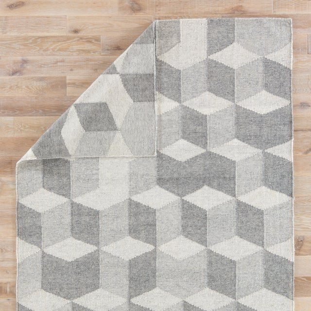 Jaipur Living Vista Indoor/ Outdoor Geometric Gray Area Rug - 8′ × 10′ For Sale - Image 4 of 6