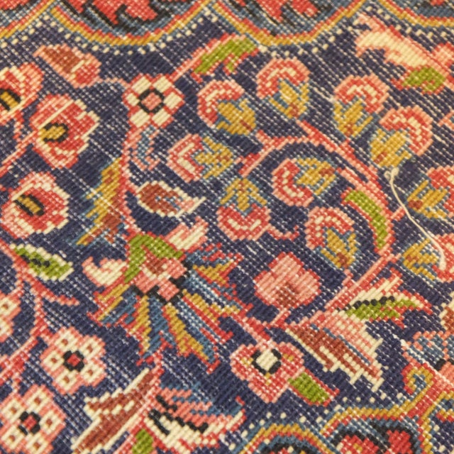 "Persian Sarouk Rug - 3'2"" x 2'3"" For Sale - Image 4 of 6"