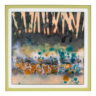 George F Welch Modern Abstract Enamel Copper Judaica Artwork Wall Panel Painting For Sale