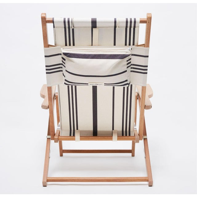 Contemporary Tommy Outdoor Chair - Vintage Black Stripe For Sale - Image 3 of 5