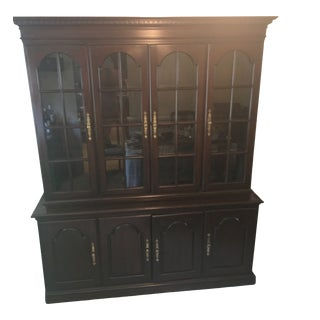 Harden Cherry Traditional China Cabinet For Sale