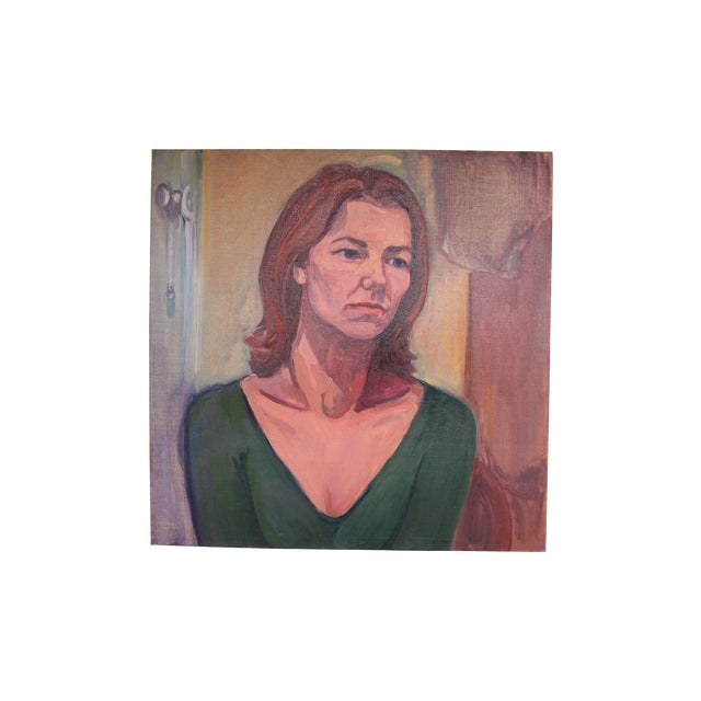 Vintage Portait Painting of a Woman - Image 1 of 3