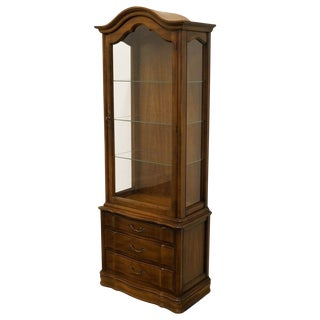 "Hammary Country French 26"" Bonnet Top Display Curio Cabinet For Sale"