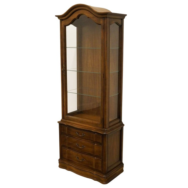 """Hammary Country French 26"""" Bonnet Top Display Curio Cabinet For Sale"""