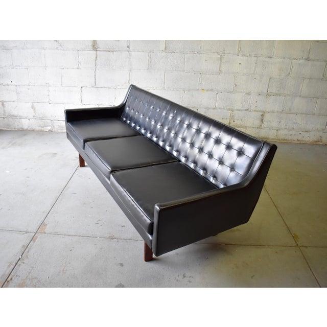 "Mid Century Modern ""James Bond"" Tufted Sofa / Couch - Image 7 of 9"