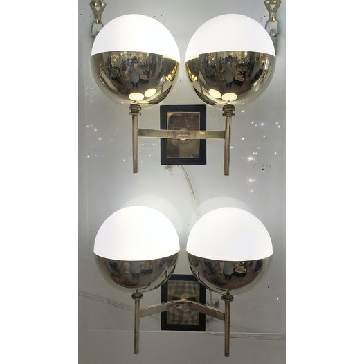 Diminutive Mid-Century Italian Sconces - a Pair For Sale - Image 4 of 6