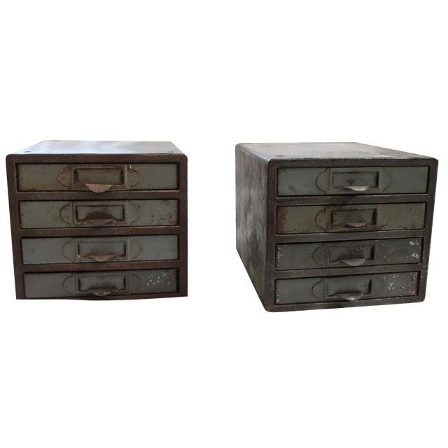 Industrial Metal Storage Desktop Cabinets - Image 1 of 11