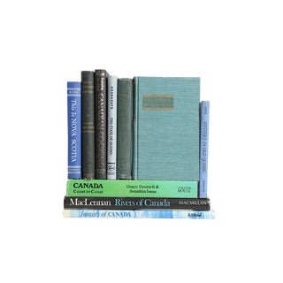 Canadian Culture Book Stack, Set of Ten Decorative Books For Sale