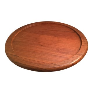 Vintage Teak Lazy Susan Serving Tray Denmark Digsmed 111 For Sale