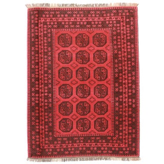 RugsinDallas Hand Knotted Wool Turkmen Rug - 6′7″ × 8′10″ For Sale
