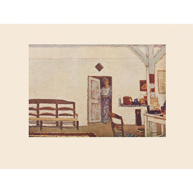 """Celadon Rare French """"Interior"""" by Jean-Édouard Vuillard, First Edition Parisian Lithograph For Sale - Image 8 of 10"""