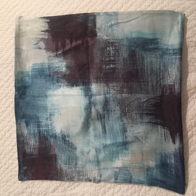 This is a new West Elm pillow cover, with tags, with a painterly texture. It is patterned on both sides and is 100% silk....
