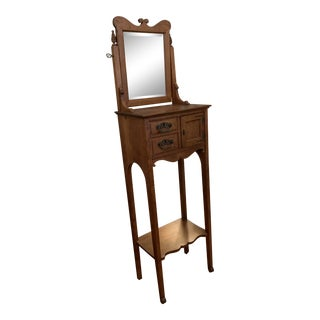19th Century Victorian Style Shaving Station/Vanity For Sale