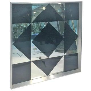 Dramatic Pop Art Geometric Mirror For Sale
