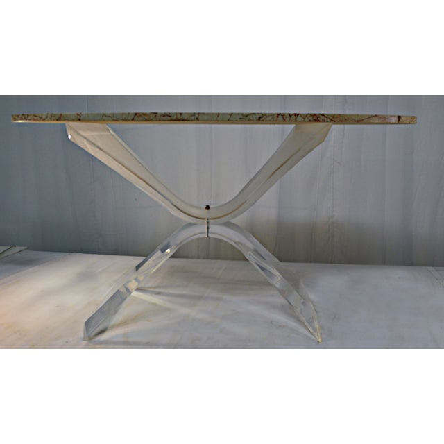 Lucite & Marble Coffee Table - Image 6 of 8