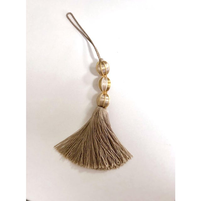 Gold Beaded Key Tassel- H 7.5 Inches For Sale - Image 4 of 10
