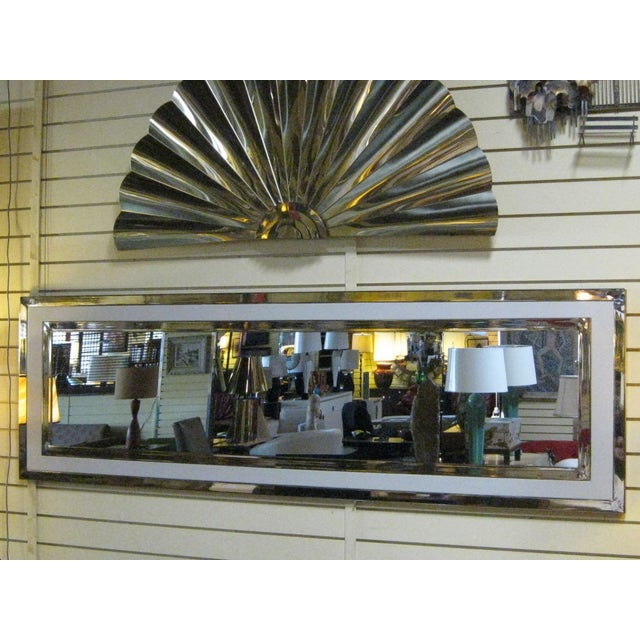Large Nickel And Lacquer Mirror - Image 3 of 4
