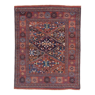 Early 20th Century Antique Afshar Rug - 4′6″ × 5′8″ For Sale