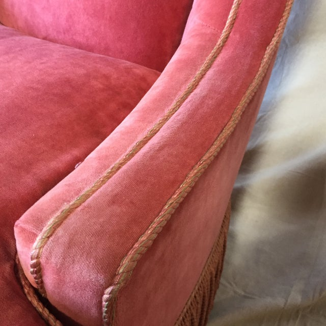 Traditional Councill Craftsmen Red Chair For Sale - Image 3 of 7