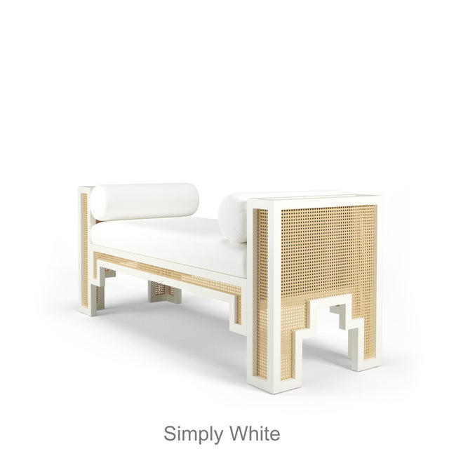 This item takes 18-20 weeks to ship. Channeling Old Hollywood Glam with an architectural silhouette, the Alexandra Bench...