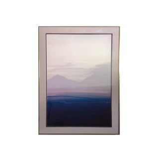 Late 20th Century Abstract Waterscape Art Poster by Doug Danz For Sale