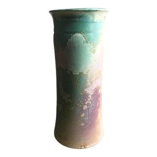 1970s Tony Evans Pottery Raku Vase For Sale