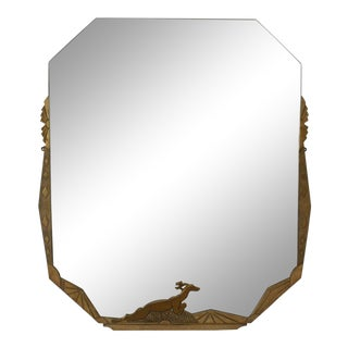 French Art Deco Wall Mirror For Sale