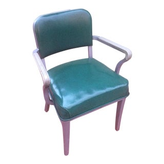 Green Steelcase Industrial Side Chair
