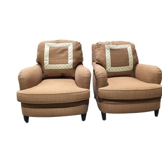 1990s Vintage Donghia English Armchairs- A Pair For Sale