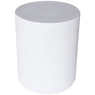 Cast Resin 'Millstone' Coffee Table, White Stone Finish by Zachary A. Design For Sale