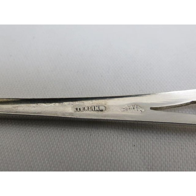 Webster Sterling Lemon Fork with Cut outs in a Art Deco Style. Very attractive and Elegant for serving lemon slices for Tea.