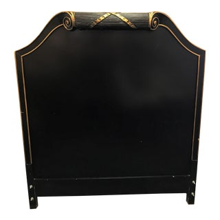 Vintage Art Deco Twin Headboard With Light For Sale