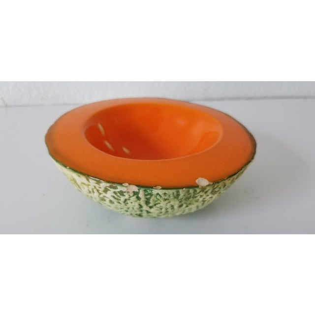 Italian Cantaloupe Bowl by Ed Langbein For Sale In Miami - Image 6 of 9