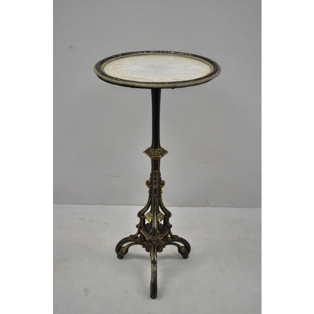 19th Century Antique Cast Iron French Victorian Pedestal Fern Stand Table For Sale In Philadelphia - Image 6 of 10