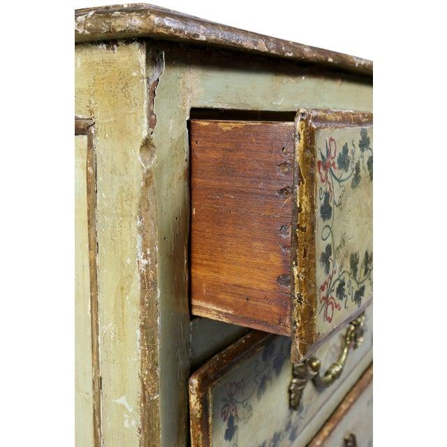Italian Rococo Lacca Povera Painted Commode For Sale In Boston - Image 6 of 11
