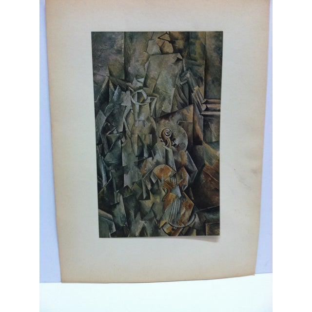 "This is a Mounted Print that it titled ""Le Violin"" by Georges Braque. The Print is in Nice condition and is Ready for..."