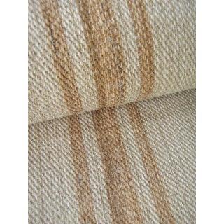 Antique Hemp Table Runner Hemp Fabric 3 Yards Caramel Triple Stripe For Sale