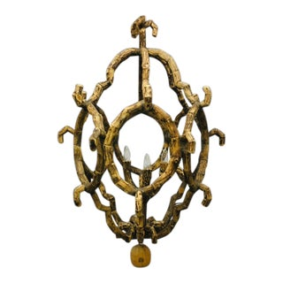 Baroque Style Driftwood Chandelier For Sale