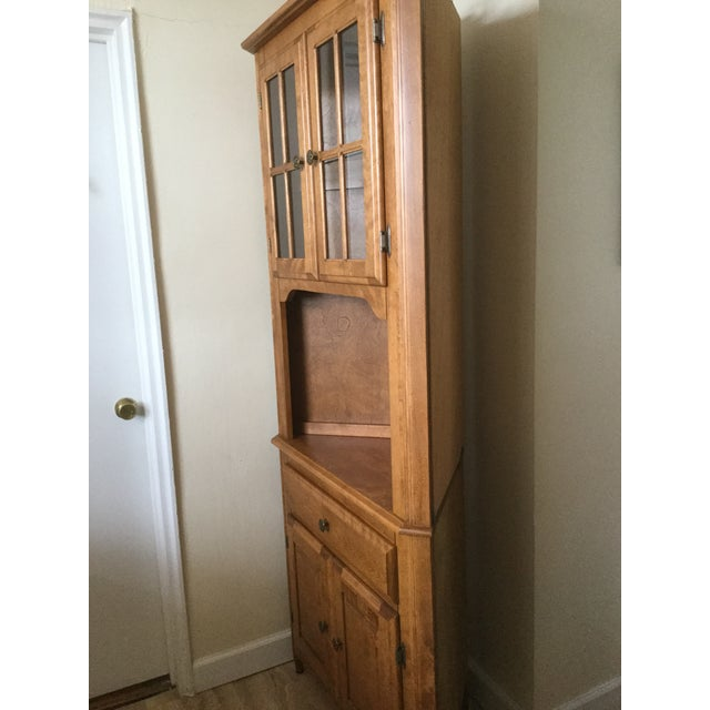 Corner Hutch/Buffet/China Cabinet - Handcrafted, Solid Birch - Image 10 of 10
