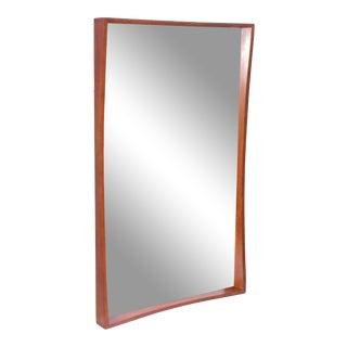 Pedersen & Hansen Teak Wall Mirror For Sale